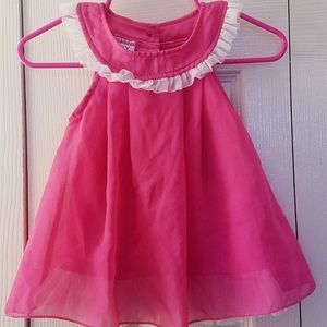 Hot pink flowy baby dress size small